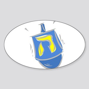 blue dreidel Sticker